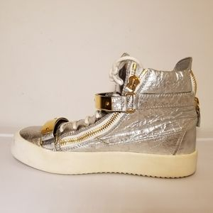 Other - Giuseppe Zanotti Women's Silver/ Gold Sneakers